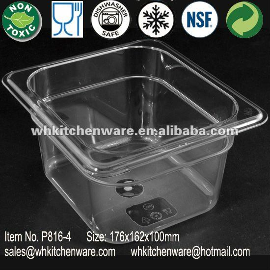 PC pan for plastic salad bar
