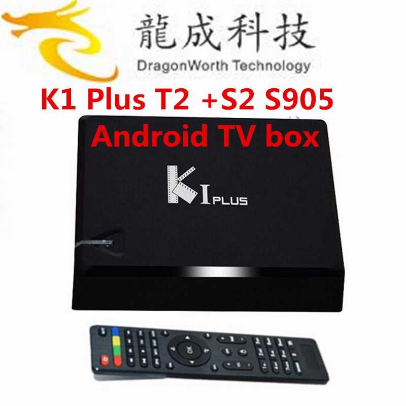 Global tner tv box hot selling Amlogic S905 Quad core Android tv box K1 dvb t2 dvb s2 OTT +T tuner