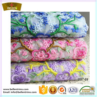 Embroidery african lace fabric wholesale