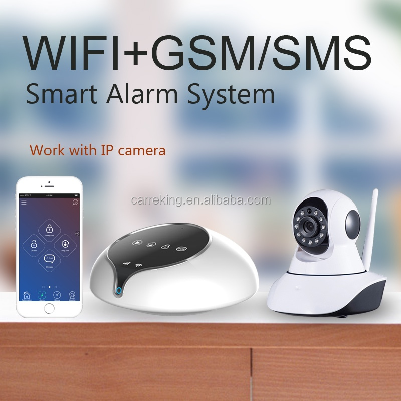 <strong>GSM</strong>+WIFI/GPRS/SMS home security alarm system work with IP camera security camera system wireless