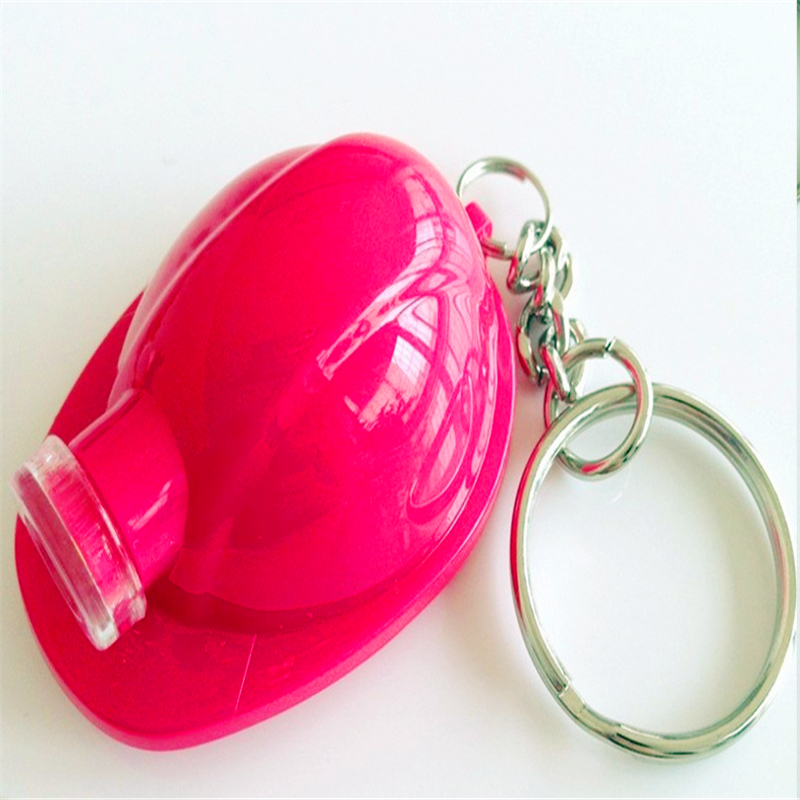 Promotional Safety Helmet Shape abs led keychain lights
