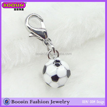Top Quality Enamel Jewelry World Cup Sport Football Charm With Lobster Clasp #8502