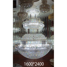 Newest Guangzhou European Traditional Style Expensive Large Hotel Chandelier Pendant Light 2017
