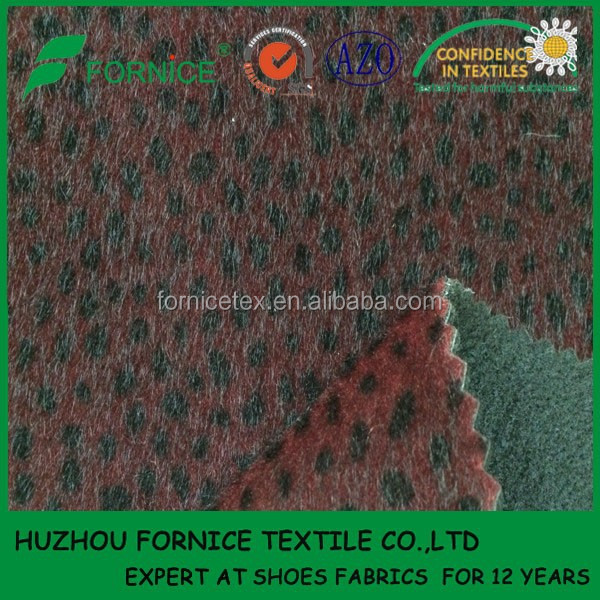 China manufacturer Flocking Pu Fabric Material For Shoes