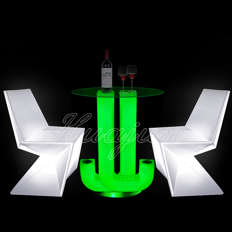 lighting led round coffee table/up and down coffee table