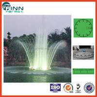 Factory modern style outdoor colorful musical shooting fountain spray ring