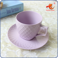 WKT001V 90cc wholesale coffee cup and saucer