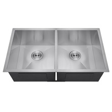New Premium high quality double bowl stainless steel sink