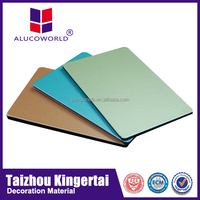 Alucoworld 12 years Superior Weather-resistant Aluminum Composite Panel faux alabaster panel acp