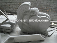 Factory supply heart shaped weeping angel headstone
