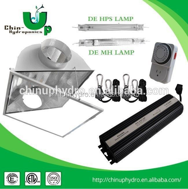 greenhouse veg bulb 1000w double ended reflector/ grow light air-cooled hood/ aluminium grow light reflector