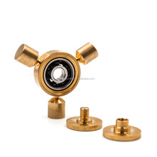 Tri-Spinner Fidgets Toy CNC Cut Si3N4 Bearing Brass Fidget Spinner For Autism ADHD Kids Adult Anti Stress Toys