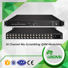 DVB-C Headend System 16 Channel Multiplexing Scrambling QAM Modulator