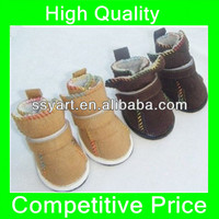 2013 Warm Cozy Pet Dog Boots Puppy Shoes 2 Colors For Winter For Small Dog SIZE #1-#5