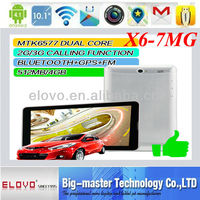 "2014 cheapest 7"" mtk6577 dual core 3g tablet pc with gps"