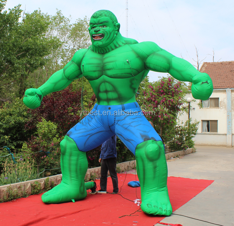 inflatable character/Green giant inflatable/hulk