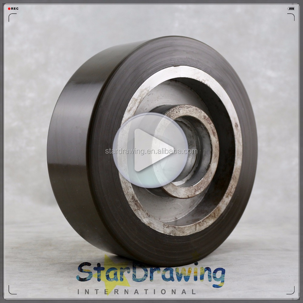 6 Inch 150MM forklift wheel, steel core, polyurethane tread