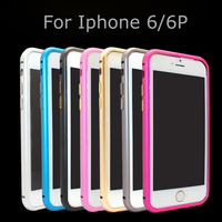 No Screw Luxury Ultra Thin Slim Aluminium Alloy Metal Bumper Frame Case for iPhone 6 iPhone6 4.7 with Colorful Edge