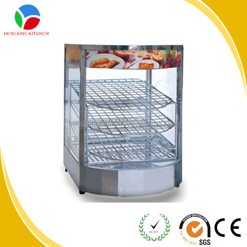 glass food display cabinet/bakery display counter/fried chicken food display warmers