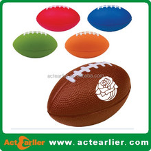 cheap 9inch pu foam American football pu foam promotion ball with logo imprint