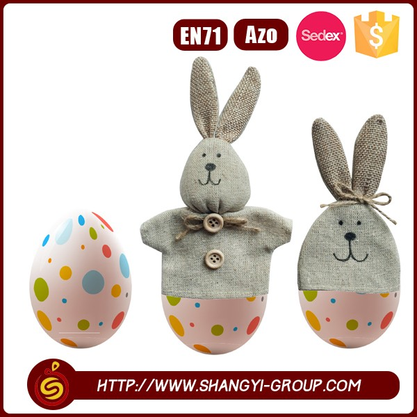 Creative decoration for plastic easter eggs