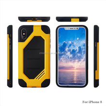 Wholesale Cellphone Case 2in1 Pc+tpu Protective Mobile Phone Case Hybrid Back Covers For iphone 8