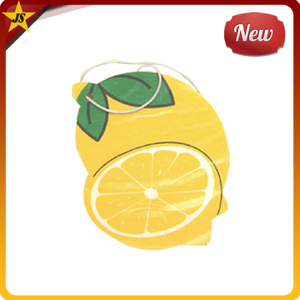 Auto Car Green Leaf Yellow Lemon Scents Paper Air Fresheners