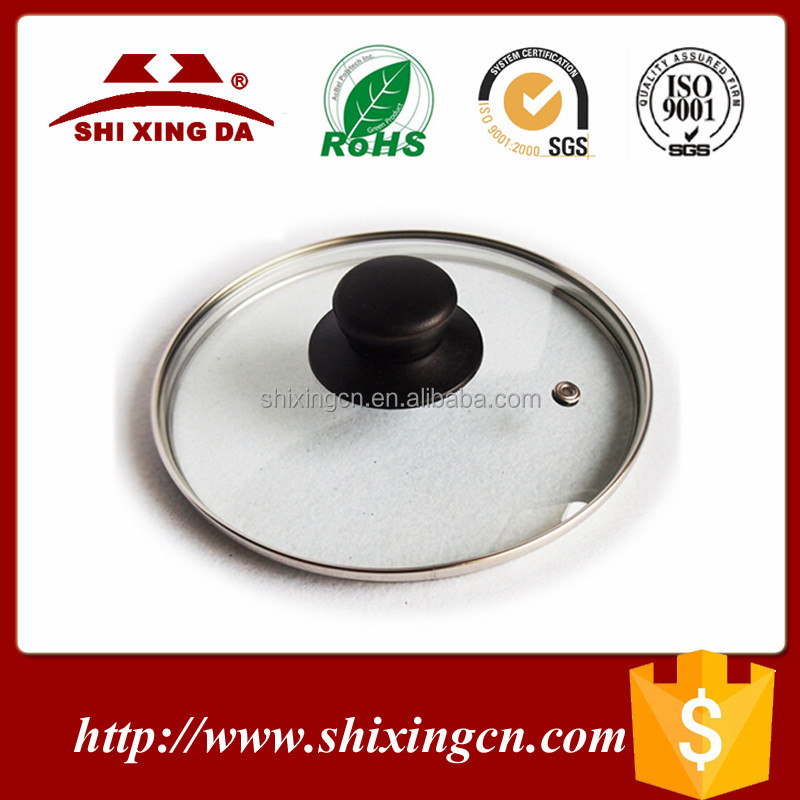 Eco-friendly 14-32cm tempered glass lid for fry pan