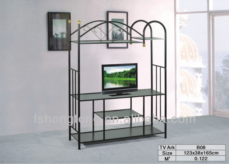 wicker and iron tv stand / side table