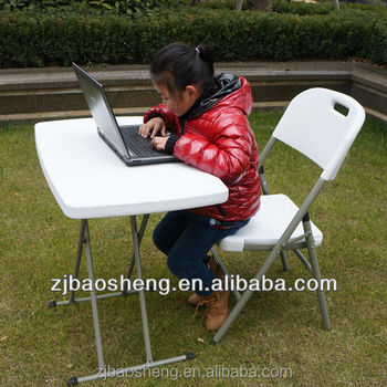 kids height adjustable plastic folding table