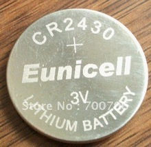 Eunicell battery CR2430 coin cells cr2430 DL2430 ECR1620 5011LC lithium 3v Button cell
