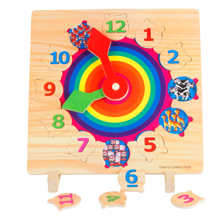 online shopping wooden clock jigsaw puzzle