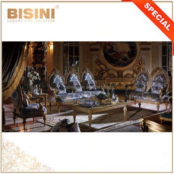 Ornate Nouveau Luxury Rococo Design Carving Classic Living Room Sofa Set