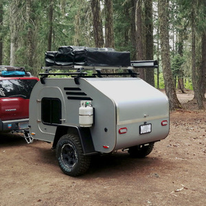 China Ecocampor Off Road Mini 4x4 Teardrop Camper Trailer Caravan with Toilet and Tent