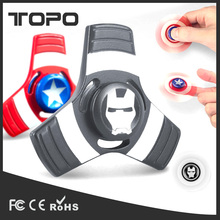 Factory Bulk Selling New Designed Anti-Anxiety 360 Super Hero Captain American Metal Fidget Spinner Hand finger spinner Toy