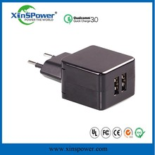 Xinspower mobile charger 5V 2.1A AC USB WALL charger Power adapter 10W US EU version with High Efficiency
