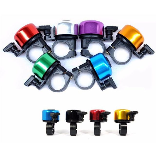 2016 Cheap Aluminum Alloy Clear Sound Mini Bicycle Bell Handlebar Safety Metal Bike Ring Cycling Horn 4pcs/lot