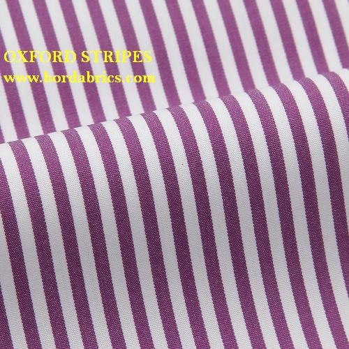 Classic Yarn Dyed Stripe Cotton Polyester Woven Textil Shirt Fabric Manufacturer for Shirts and Uniforms