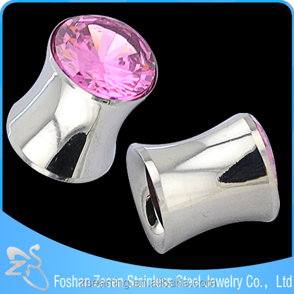 Crystal drum Ear plug &flesh tunnel piercing expander