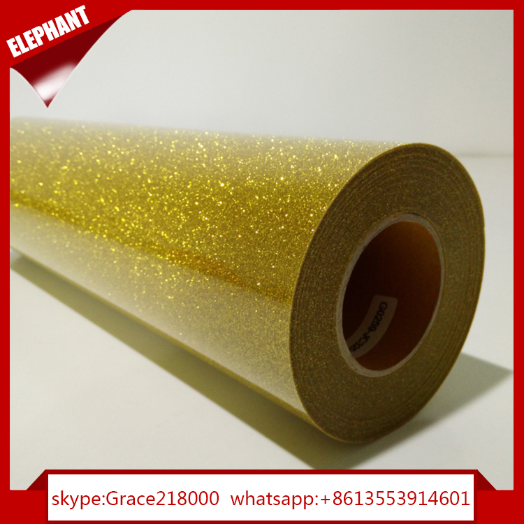 high quality glitter flake vinyl white for polyester