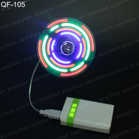 Customized Colorful mini usb fan with led clock, usb mini fan