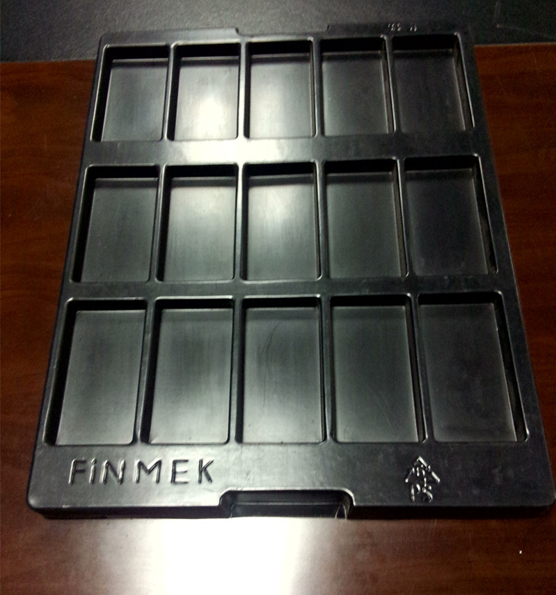 Customized food grade PET PS blister chocolate packaging tray Low cost thermoformed chocolate food packaging insert tray