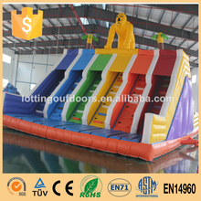 kids climbing wall, multi lanes inflatable rock climbing wall, Commercial Giant Inflatable climbing wall