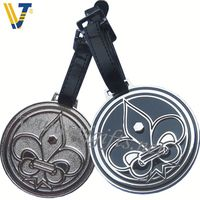 2013 Hot metal plate with crystal for luggage tag