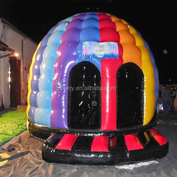Music Inflatable dome Disco Bouncer/ dome Disco Jumping Castle for sale