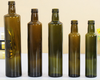 500ml empty round dark green olive oil glass bottle with cap