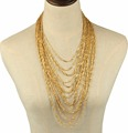 2017 gold chains necklace, newest design gold necklace, multi layers thin gold chain necklace designs