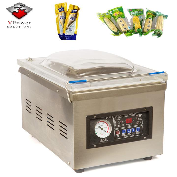 Guangzhou Desktop Single Chamber Vacuum Heating Pumping Packaging Sealing Machine For Food Fruit Seafood