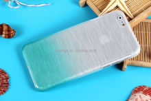 Cell phone accessory Wire drawing smooth colors brushed plastic hard case for iphone 6 case wholesale alibaba