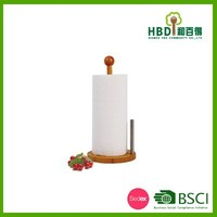 High quality Bamboo paper towel holder